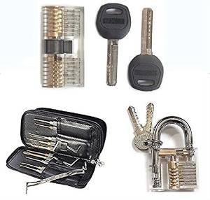 24 piece best selling lock pick set and practice locks